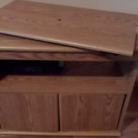 TV Stand with swivel top and storage